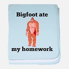 Bigfoot Ate My Homework baby blanket
