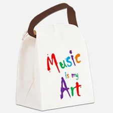 Music is my Art Canvas Lunch Bag