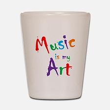 Music is my Art Shot Glass