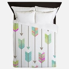 Watercolor Arrows Pattern Queen Duvet