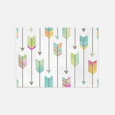 Watercolor Arrows Pattern 5'x7'Area Rug