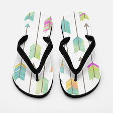Watercolor Arrows Pattern Flip Flops