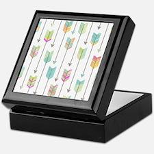 Watercolor Arrows Pattern Keepsake Box