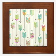 Watercolor Arrows Pattern Framed Tile