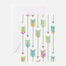 Watercolor Arrows Pattern Greeting Card