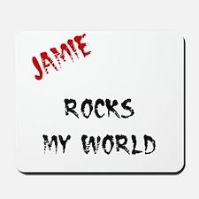 Jamie Rocks My World Mousepad