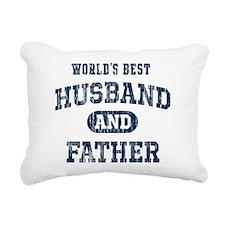 World's Best Husband and Rectangular Canvas Pillow