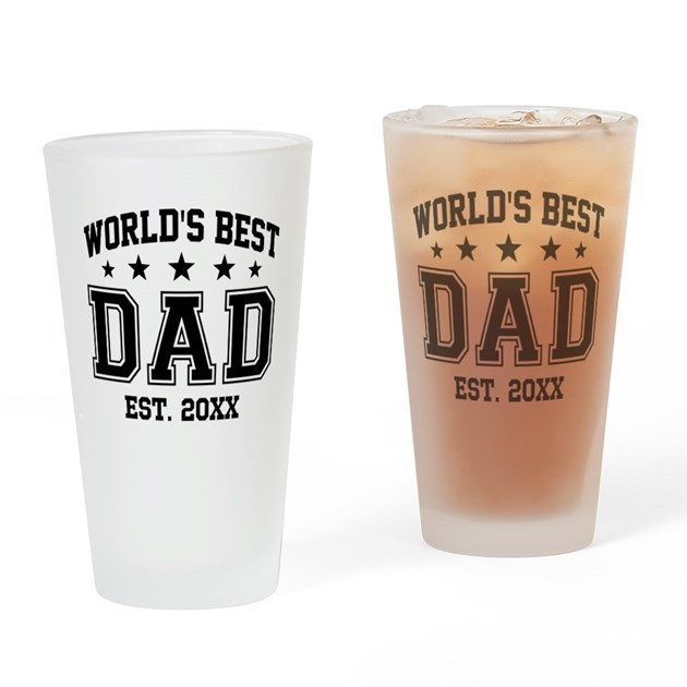 Personalized world 39 s best dad drinking glass by giftcy Unusual drinking glasses uk
