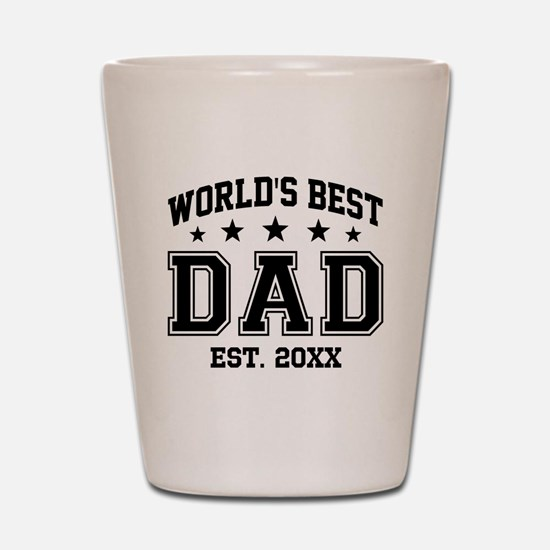 Personalized World's Best Dad Shot Glass