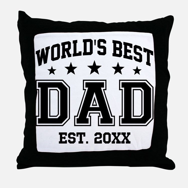 Personalized World's Best Dad Throw Pillow