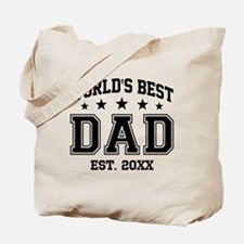 Personalized World's Best Dad Tote Bag