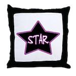 Girlie.Star Throw Pillow