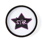 Girlie.Star Wall Clock