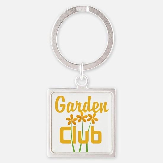 Tropical Garden Square Keychain