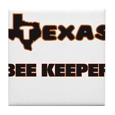 Texas Bee Keeper Tile Coaster