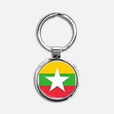 Flag of Burma Round Keychain