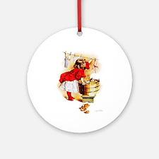 Maud Humphrey - Laundry Day Ornament (Round)