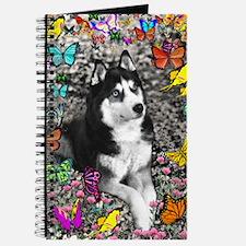Irie Siberian Husky Butterflies Journal