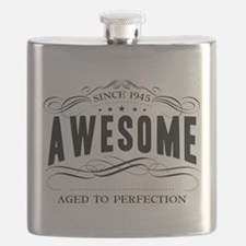 Birthday Born 1945 Awesome Flask