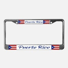 """Puerto Rico Flag"" License Plate Frame"