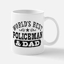 World's Best Policeman and Dad Small Small Mug
