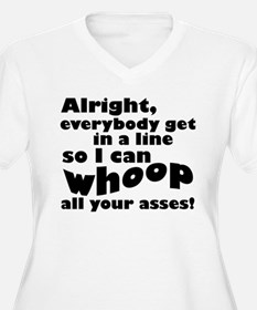 Whoop All Your Asses V-Neck Plus Size T-Shirt