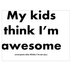 Awesome Dad fine print Poster