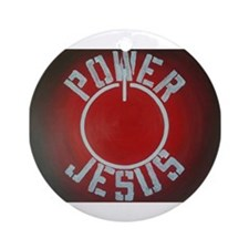 Cute White power Round Ornament