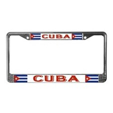 """Cuba Flag"" License Plate Frame"