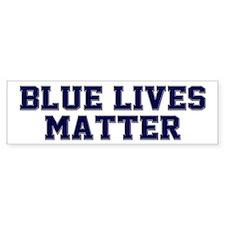 Blue Lives Matter Shadow Bumper Sticker