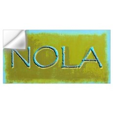 NOLA OLIVE TURQ Wall Decal