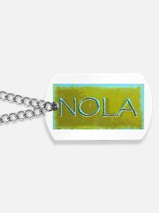 NOLA OLIVE TURQ Dog Tags