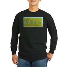 NOLA OLIVE TURQ Long Sleeve T-Shirt