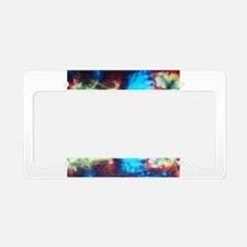Tie Dye design License Plate Holder