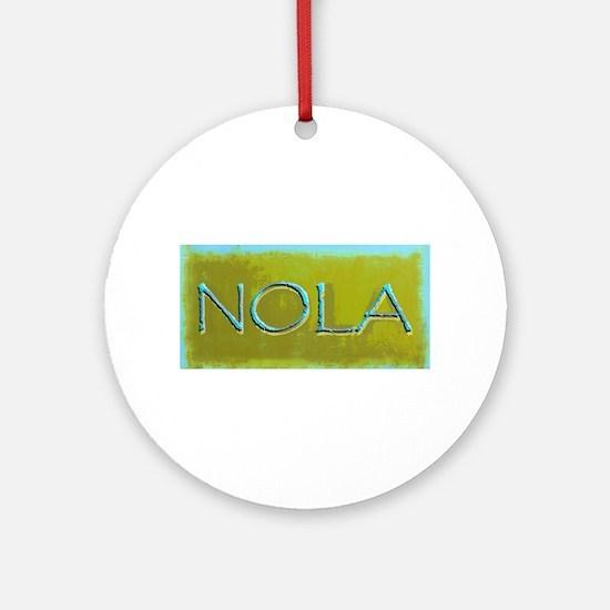 NOLA OLIVE TURQ Ornament (Round)