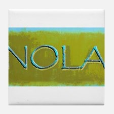 NOLA OLIVE TURQ Tile Coaster
