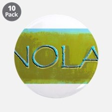 """NOLA OLIVE TURQ 3.5"""" Button (10 pack)"""