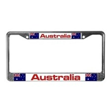 """Australia Flag"" License Plate Frame"