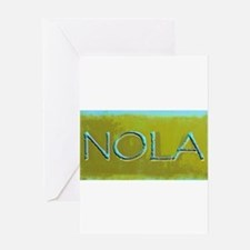 NOLA OLIVE TURQ Greeting Cards