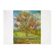 Peach Tree in Blossom 5'x7'Area Rug