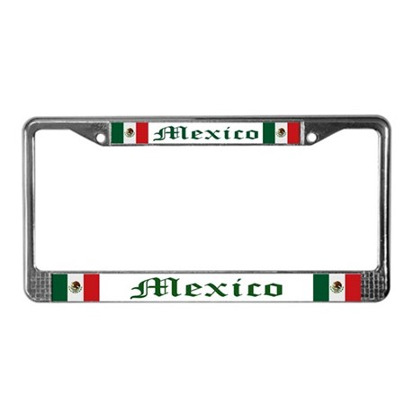 """Mexico Flag"" License Plate Frame"
