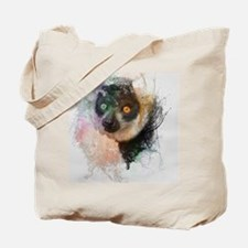 Water Splash Lemur Abstract Tote Bag