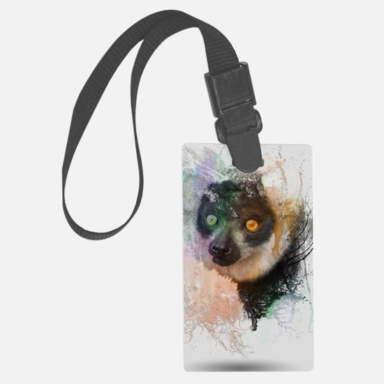 Water Splash Lemur Abstract Luggage Tag