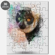 Water Splash Lemur Abstract Puzzle