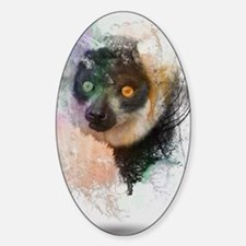 Water Splash Lemur Abstract Decal
