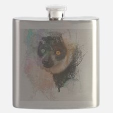 Water Splash Lemur Abstract Flask