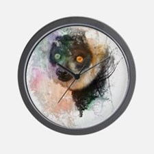 Water Splash Lemur Abstract Wall Clock