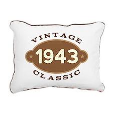 1943 Birth Year Birthday Rectangular Canvas Pillow