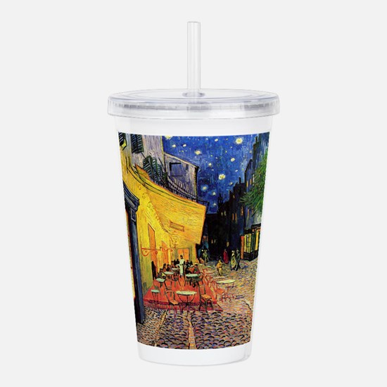 Van Gogh, Cafe Terrace Acrylic Double-wall Tumbler
