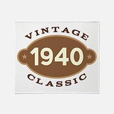 1940 Birth Year Birthday Throw Blanket